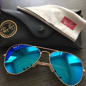 Ray Ban Blue Polarized Flash lenses sunglasses
